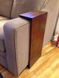Ana White | Easy small space side table - DIY Projects C end table sofa arm table add pockets or shelf for remote controls, near the top