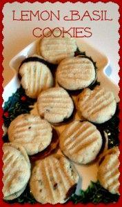 #Lemon Basil Sandwich Cookies