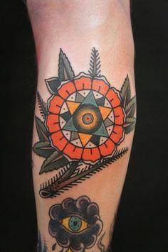 Mandala tattoo by Dane Mancini