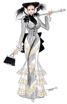 kinda steamy: character concept art of Female Wizard for Granado Espada