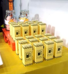 Juice Boxes | #construction theme birthday #construction truck birthday party