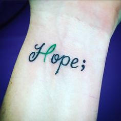My new #projectsemicolon #mentalhealthawareness tattoo! I it so much!! I live with HOPE even though I have mental health issues. A semicolon reminds me to keep going