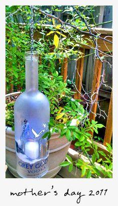Erin Smith bottle art Bottle Art, Bottle Crafts, Cutting Bottles, Erin Smith, Grey Goose, Bottles And Jars, Wine Drinks, Artsy Fartsy, Pink White