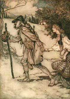Contes de Grimm La jeune aveugle et le mendiant
