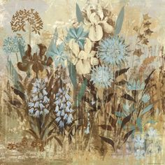 Floral Frenzy Blue IV Prints by Alan Hopfensperger at AllPosters.com