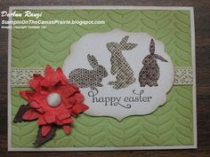 Stampin' on the Prairie: Easter Bunnies, Easter Card, Ears to You stamp and Pop-up Posies kit