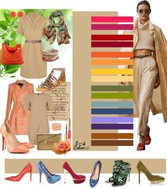 combination of sand-colored 2014 Colour Combinations Fashion, Color Combinations For Clothes, Fashion Colours, Colorful Fashion, Color Combos, Look Fashion, Fashion Outfits, Color Me Beautiful, Fashion Capsule