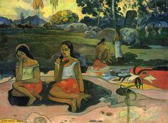 Paul Gauguin.  Herrliches Geheimnis (Nave nave moe). 1894, Öl auf Leinwand, 73 × 98 cm. St. Petersburg, Eremitage. Synthetismus. Frankreich. Postimpressionismus.  KO 01412