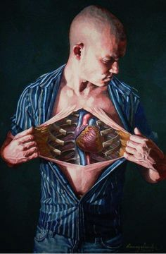 Self dissections by Danny Quirk via Street Anatomy.