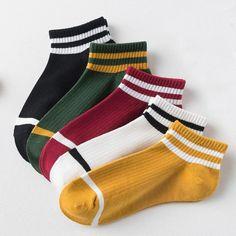 College wind striped boat socks Women's casual cute socks socks women's socks College wind striped boat socks Women's casual cute. Sexy Socks, Cute Socks, Fall Socks, Socks Outfit, Trouser Socks, Colorful Socks, Striped Socks, Ankle Socks, Boot Socks