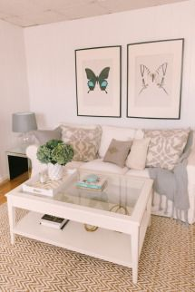 Loving this entire look. Stephanie's Home Tour - Style Me Pretty Living Living Pequeños, Nordic Living Room, City Living, Living Room Decor, Living Spaces, Liatorp, Apartment Chic, Apartment Living, Style Me Pretty Living