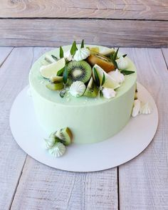 Cake Recipes For Kids, Dessert Recipes, Fruit Cake Design, Beautiful Birthday Cakes, Chocolate Raspberry Cheesecake, Birthday Cake Decorating, Cake Mix Cookies, Savoury Cake, Pretty Cakes