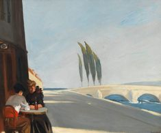 Edward Hopper Le Bistro or The Wine Shop 1909 Oil on canvas, cm Whitney Museum of American Art, New York; Hopper Bequest © Heirs of Josephine N. Hopper, Licensed by Whitney Museum of American Art American Realism, American Artists, Edouard Hopper, Edward Hopper Paintings, The Wine Shop, Robert Rauschenberg, Bistro, Whitney Museum, Art History