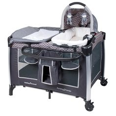 The Baby Trend Go-Lite ELX nursery center in Venice fashion includes the stand alone napper with a 3 toy mobile which is a detachable unit and can be converted into a rocker that will keep your little one entertained. This modern and durable aluminum frame is an ultra lite weight unit and safe for years. The Baby Trend Go-Lite aluminum Playard comes complete with a deluxe multi textured mattress pad, a full size bassinet feature for smaller children, a flip away diaper changer allowing for…
