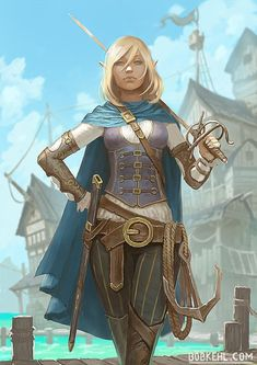 [ART] Half-elf Fencer : DnD - Numberone Tutorial and Ideas Dungeons And Dragons Characters, D D Characters, Fantasy Characters, Fantasy Warrior, Fantasy Rpg, Fantasy Artwork, Elf Warrior, Fantasy Girl, Fantasy Character Design