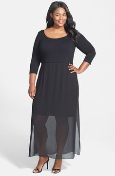 d8b8c7aadf1 Vince Camuto Chiffon Overlay Maxi Dress (Plus Size) available at  Nordstrom  Sexy Maxi