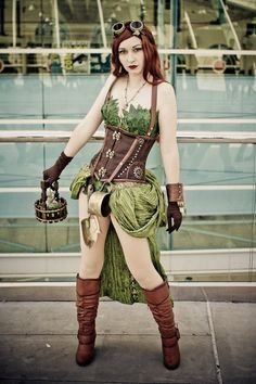Steampunk Poison Ivy cosplay. Should do this version sometime.