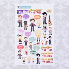 D150 // Full House Stickers - Fuller House on Netflix Stickers