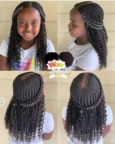 Little Girl Braid Styles, Little Girl Braids, Black Girl Braids, Braids For Black Hair, Kid Braid Styles, Black Kids Braids Hairstyles, Braids Hairstyles Pictures, Baby Girl Hairstyles, Natural Hairstyles