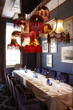 A private dining room in the Alphen Hotel's 5Rooms restaurant. You have to see this for yourself.