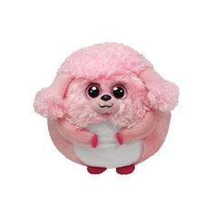 Ty Beanie Ballz Lovey Plush - Pink Poodle