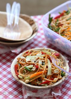 Saucy Sesame Noodles - Great potluck dish!