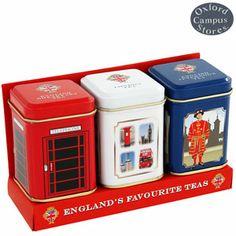 Where to Buy Tea Tins | tins of tea triple pack each mini tin contains 25g of loose leaf tea ...