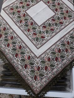 Cross Stitch Designs, Cross Stitch Patterns, Cross Stitches, Palestinian Embroidery, Cross Stitch Embroidery, Bohemian Rug, Diy And Crafts, Projects To Try, Sewing