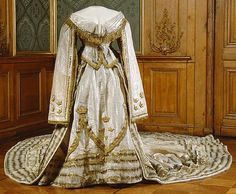 Coronation Gown and Train: Used on 12 May 1873 by Queen Sofia (Naussau) of Sweden.