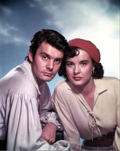 """Louis Jourdan and Jean Peters in """"Anne of the Indies"""" (1951)  by Jacques Tourneur"""