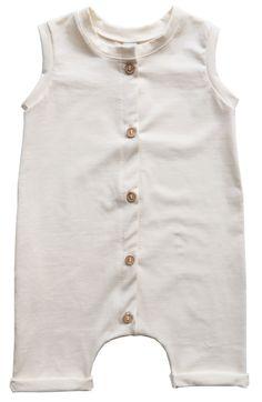 Kleine Baasjes Organic - Baby Summer Jumpsuit Off-White