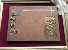 Vintage wedding diary journal hand forged metal art by Mamaphias, $94.00