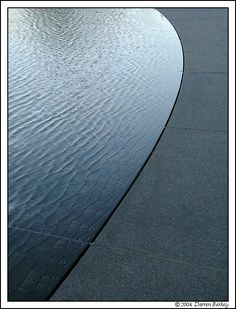 EDGE: I really like the smooth, defined line that is created between the water and stone.