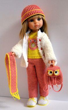 KasatkaDollsFashions - вязаная одежда для кукол Knitting Dolls Clothes, Crochet Doll Clothes, Knitted Dolls, Doll Clothes Patterns, Crochet Dolls, American Girl Outfits, American Doll Clothes, Pretty Dolls, Cute Dolls