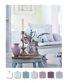 best blue and gray palette | gray, purple, and blue color palette | {Home} Decor
