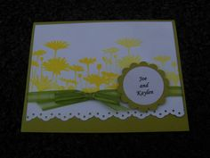 Upsy Daisy Wedding Thank You by rrhawkins4 - Cards and Paper Crafts at Splitcoaststampers