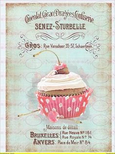 Cupcake with cherry on top //  Encontrado en Uploaded by user