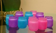 Made in Mommyland: Reuse baby food jars: Tea light candle holders