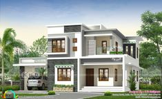 4 bedroom modern home in 2478 square feet is part of Kerala house design - 2478 square feet 4 bedroom modern house plan architecture by Rit designers, Kannur, Kerala
