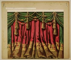 Oehme, Julius Hermann curtain (inspiring for a child's theatre)
