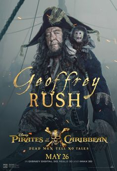 New Pirates of the Caribbean: Dead Men Tell No Tales character posters have debuted featuring Johnny Depp's Jack Sparrow & Javier Bardem's Captain Salazar! Hector Barbossa, Hd Movies, Disney Movies, Movies Online, Movie Tv, Johnny Depp, Captain Jack Sparrow, Film Pirates, Orlando Bloom