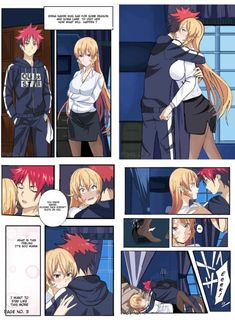 Soma x Erina Anime Cupples, Anime Base, Anime Comics, Kawaii Anime, Anime Guys, Anime Couples Fighting, Anime Pregnant, Shokugeki No Soma Anime, Ecchi Neko