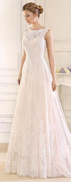 Wedding Gown Sleeveless lace Wedding Dress by Fara Sposa 2017 Bridal Collection - With romantic and feminine vibes, we bring you pretty wedding dresses by Fara Sposa 2017 Bridal Collection. Think statement backs and gorgeous silhouettes! Perfect Wedding Dress, Dream Wedding Dresses, Bridal Dresses, Bridesmaid Dresses, Bateau Wedding Dress, Tulle Wedding, Wedding Beach, Aline Wedding Dress Lace, Luxury Wedding
