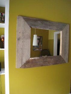 Cómo hacer un espejo rústico