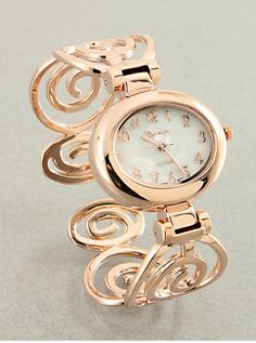 Rosegold Swirls Watch from P.S. I Love You More Boutique. shop online at: psiloveyoumore.storenvy.com