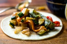 You can turn the heat up or down on this taco, depending on your taste for spiciness Season the potatoes, onions and squash before roasting A comforting filling that you can heat up or tone down, depending on your taste for spicy