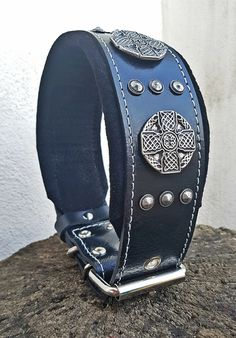 Boxer Padded 2.5 inch Wide Rottweiler Bestia Eros Genuine Leather Dog Collar Cane Corso Made in Europe! Studded Bullmastiff L- XXL Size 100/% Leather Large Breeds Quality Dog Collar Dogo