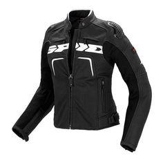 Blouson de moto SPIDI P147 EVORIDER NOIR BLANC FEMME Veste De Moto, Noir,  Evo 2a47f2ef18b