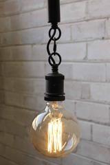 Anchor Rope Pendant Light has an E27 lamp holder in matt black