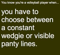 you know your a volleyball player when ...